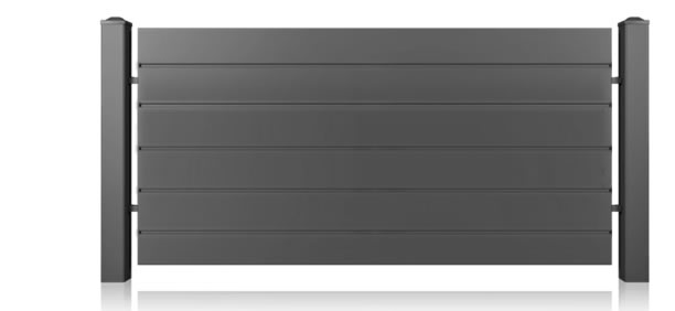 Zaun Modern Home Inklusiv 1 Steingrau Ral 7030 Zaun Rechner